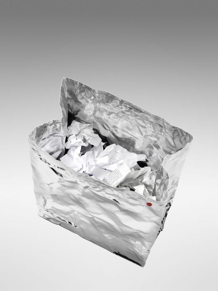 Hailo AluBag Design Papierkorb Abfallsammler Mülleier Aluminium Handarbeit NEU   markenbaumarkt24
