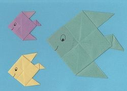 Fascinating fish - easy origami animals for kids!