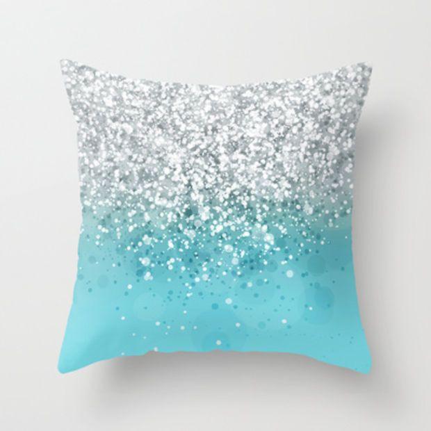 Glitteresques XXXIII Throw Pillow by Rain Carnival