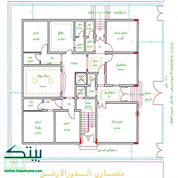 مخطط بيت دور واحد روعه House Floor Design Home Design Floor Plans Victorian House Plans