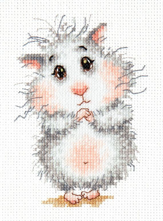 Cross Stitch Kit Buy hamster, please!