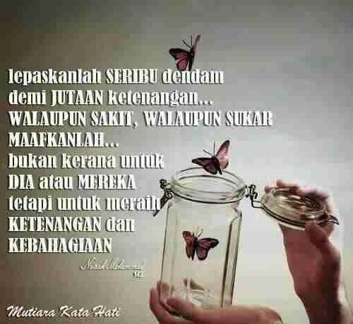 Lepaskan ia pergi... jangan takut kehilangan sesuatu yang bukan milik kita... kerana ALLAH akan menggantikan dengan sesuatu yang jauh lebih baik... ~ Suriati TieRyzal