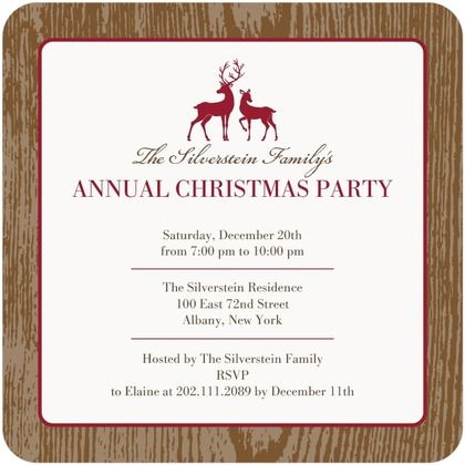 Best Winter Holiday Party Invitations Images On