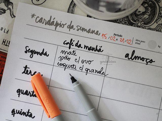 Planeje o menu da semana e compre somente os itens que irá utilizar para preparar suas refeições