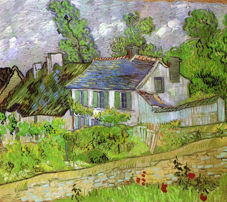 Vincent van Gogh - Houses in Auvers / 1890