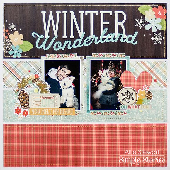 Layout from creative team member Allie Stewart using our Winter Wonderland collection