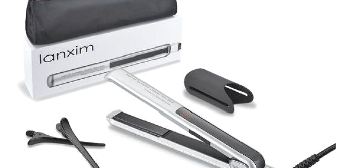 Lanxim Digital Tourmaline Ceramic Flat Iron Hair Straightener with Heat Resistant Travel Bag and Protective Plate Guard Holder, Silver  Say goodbye to tiresome frizzy and fly-aways hair, rapid get professtional style straight shiny or wave hair in your home with the Lanxim Pro Tourmaline Ceramic Flat Iron(INNACT TM & C-Sensor TM). The professtional Lanxim Tourmaline Ceramic Flat Iron is great for transforming frizzy, dull hair into gorgeously straight and sleek locks. With 11 setting..