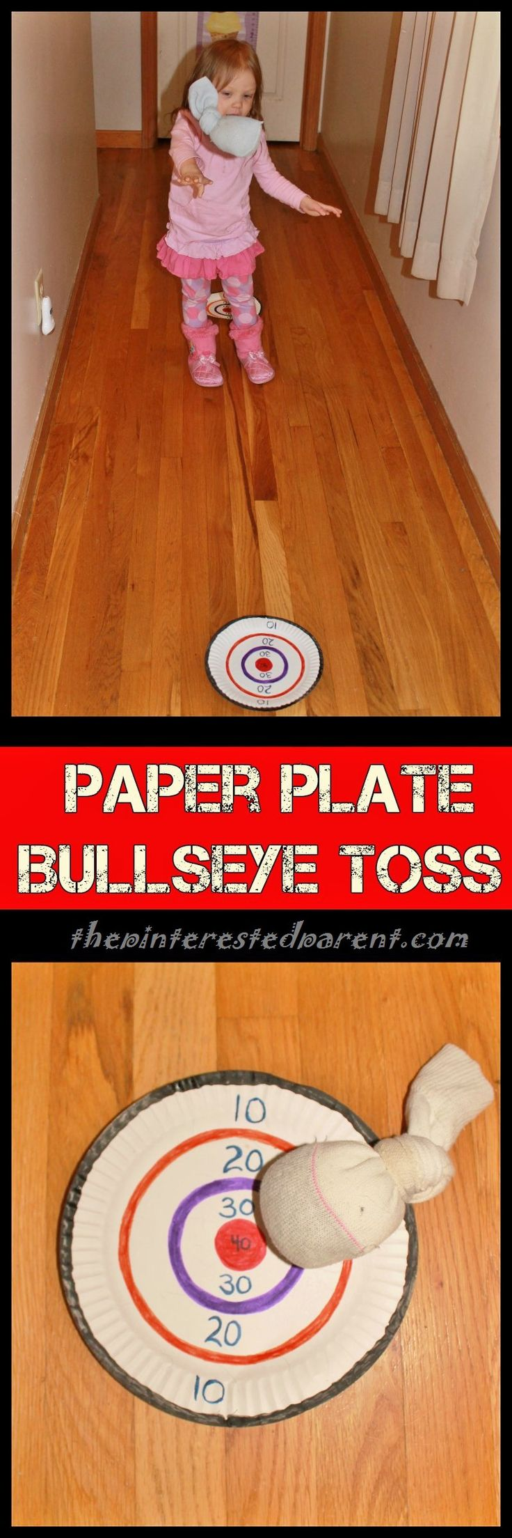 Paper Plate Bullseye Toss - the simplest activities are always the most fun