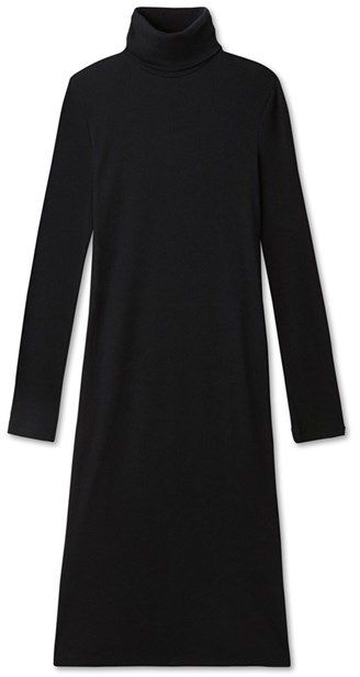 Womens roll-neck dress in ultra light cotton