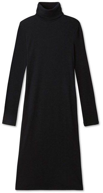 Womens roll-neck dress in ultra light cotton