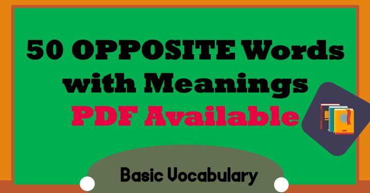 500 Words Opposite List in Urdu Meaning - Antonyms in Urdu | Opposite words. Opposite words list. Synonyms and antonyms