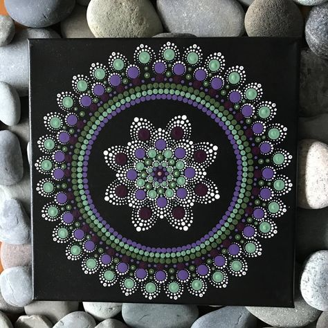 A personal favorite from my Etsy shop https://www.etsy.com/listing/563235226/12-x-12-hand-painted-mandala-on-canvas