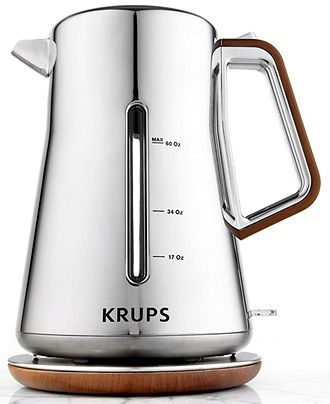 Krups BW600 Electric Kettle, Silver Art - Selected by Guest Pinner @xxgastronomista from the #gastronomista gift guide.