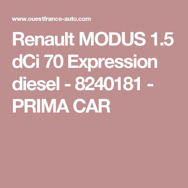 Renault MODUS 1.5 dCi 70 Expression diesel - 8240181 - PRIMA CAR