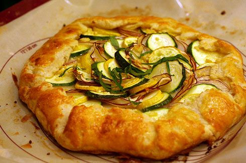 Re-pinning because it was pinned incorrectly.  Potato, Leek, and Feta Galette recipe.  Yummm.