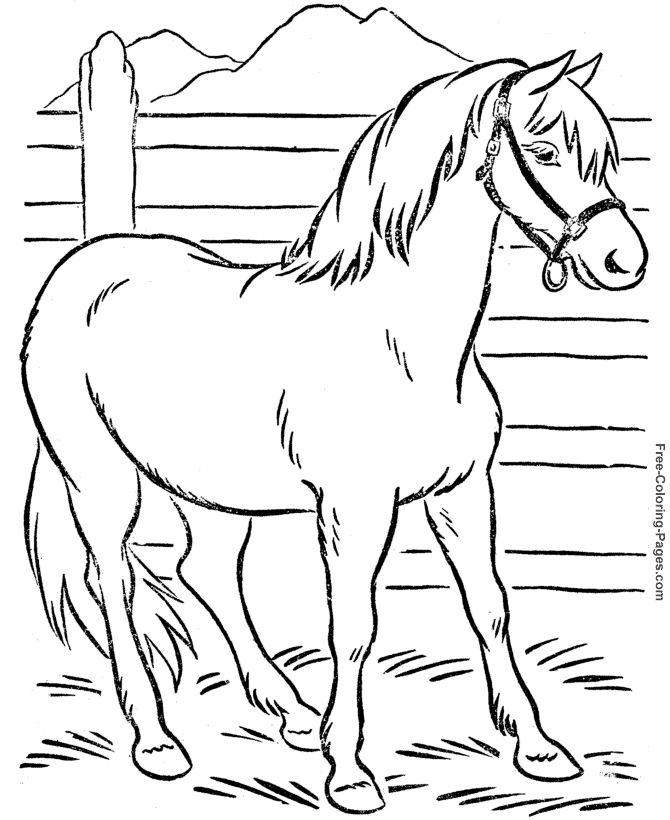 coloring book pages of horses 011 - Free Colouring Pages For Children