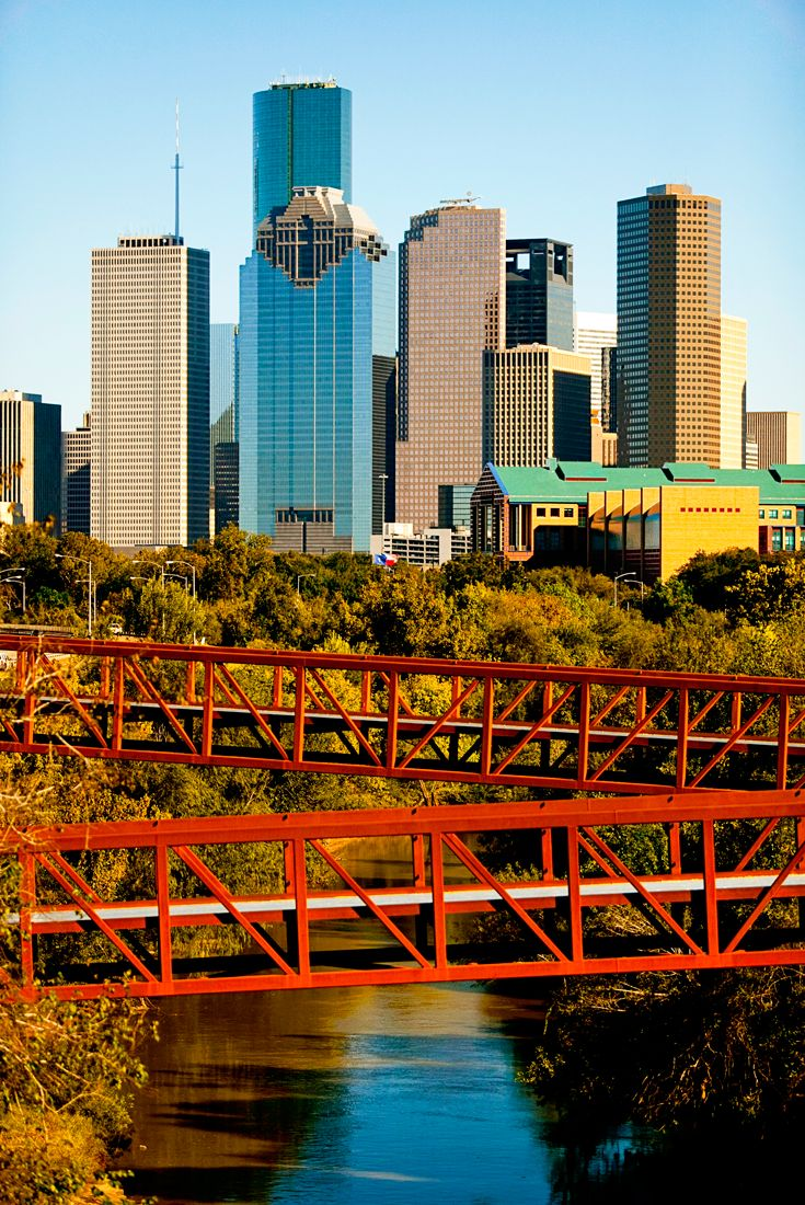View of the DowntownHouston skyline from the