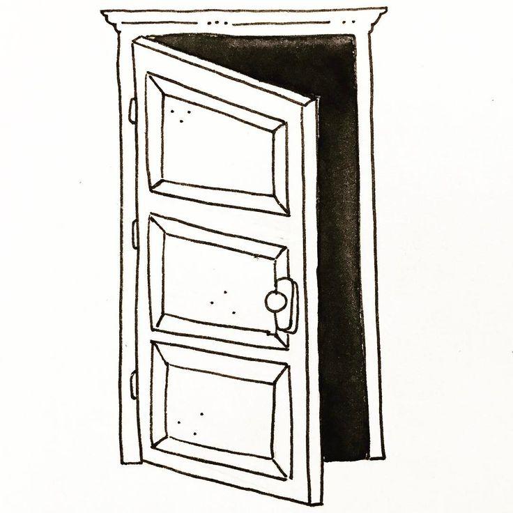 """13 Likes, 1 Comments - Andrea Romero (@andrearl_illustration) on Instagram: """"Día 21: Foscor /oscuridad #artnestoltes #illustration #black #dark #darkness #door"""""""
