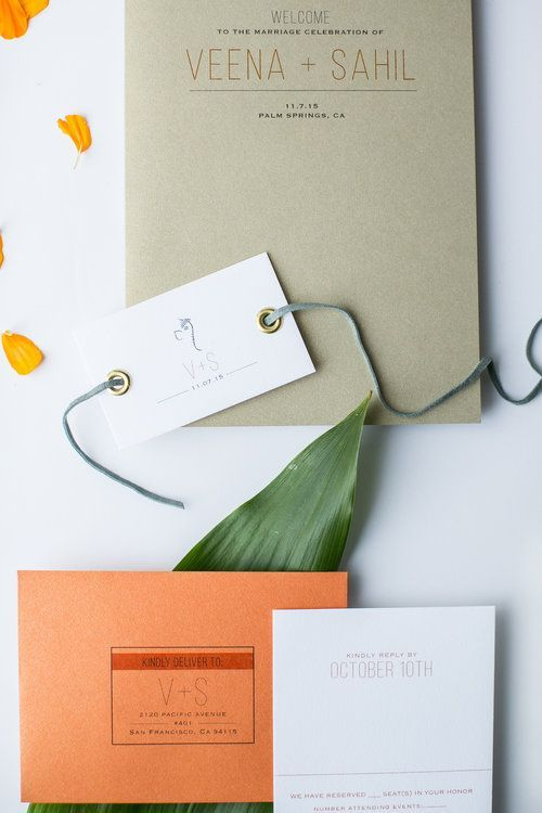 palm springs wedding invitation inspiration // modern invitation suite