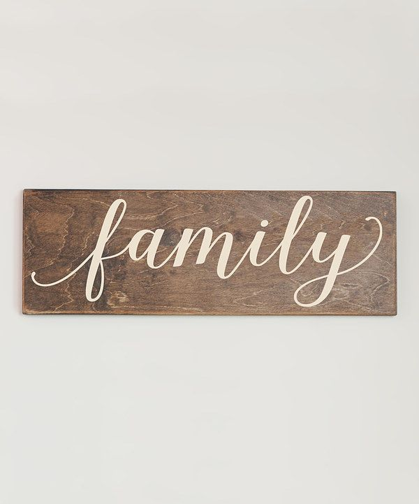 Look At This Cream Family Wall Sign On Zulily