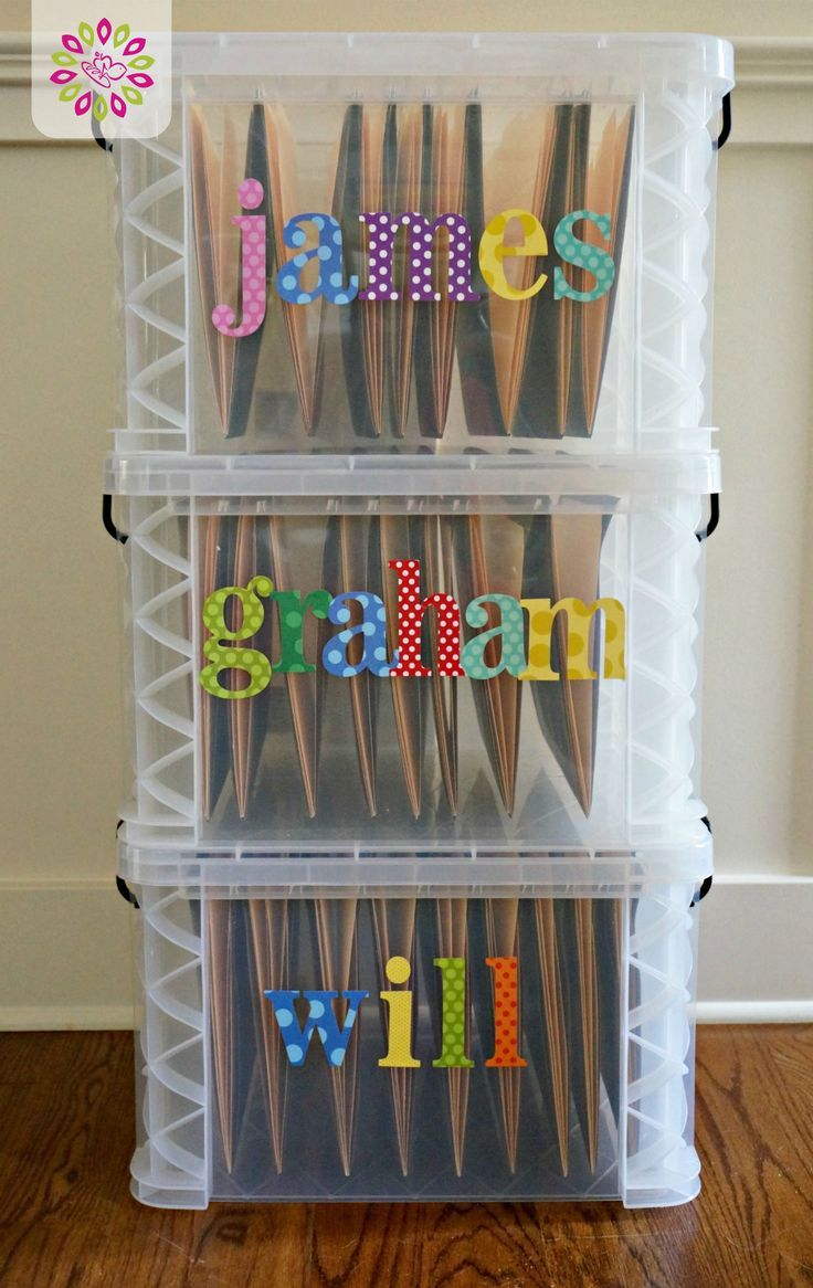 Kids File Boxes: Paperwork can become a huge burden as a parent, and you definitely want to keep a lot of it, but where? How about making a file box for each child?! Get this and more fun spring cleaning tips for the family on this site. #HTCleanSpring