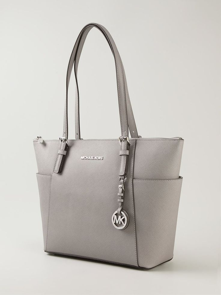 Pearly grey leather 'Jet Set' tote from Michael Kors.