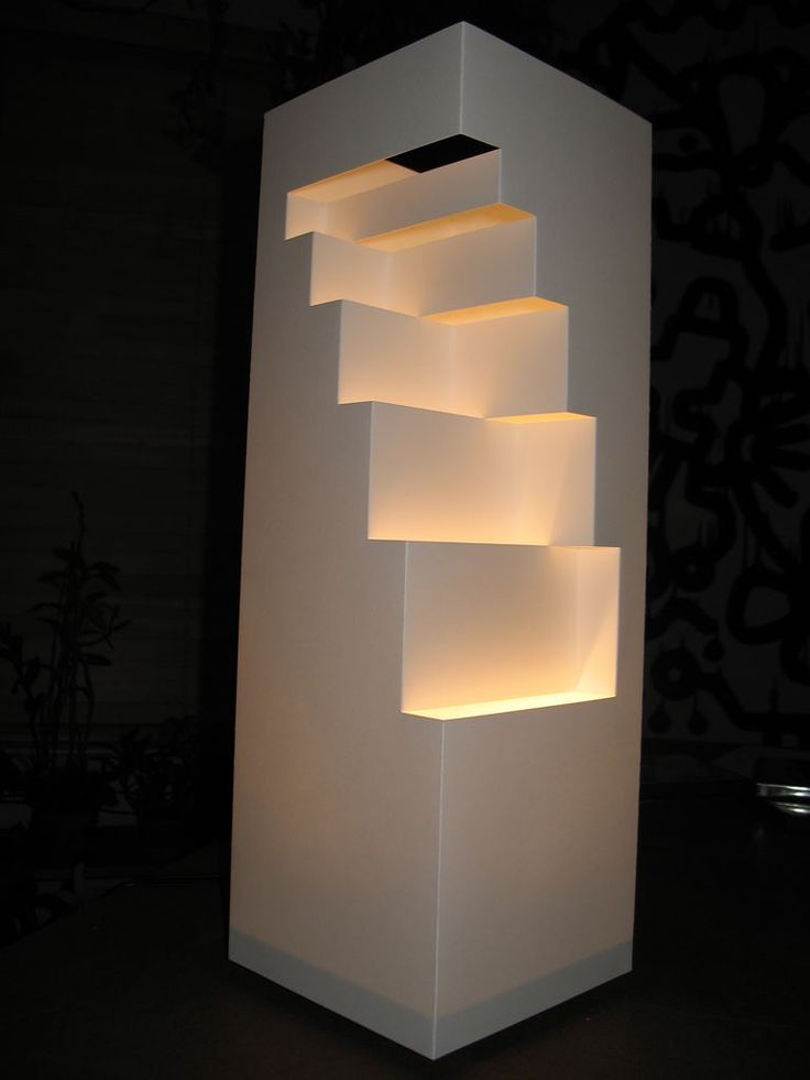 Geometric Cut Paper Table Lamp