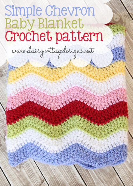 Colorful #crochet baby blanket free pattern from Daisy Cottage Designs