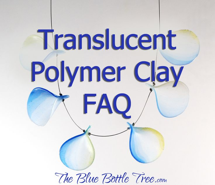 Translucent polymer clay captures the interest of polymer clay artists all over the world. Although the instructions for using it are no different than with any polymer clay, there are unique qualities and factors that do affect how you use translucent polymer clay. Ill try to cover some of more