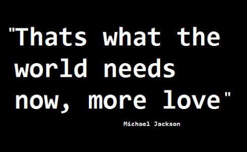 We need to share love. We really can live in peace and harmony together. Let us try to heal the world.