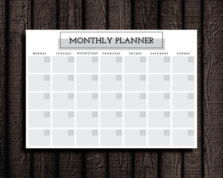 Monthly Planner Printable. Cathartic Malarkey has study planner pages to organize every aspect of your semester.