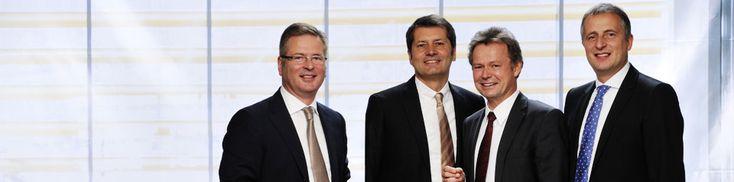 Bild der Geschäftsführung der PRE GmbH (v.l.): Willi A. Fallot-Burghardt, Hans Höhn, Michael Wenk, Gunther Pfaff   Foto: Uli Sapountsis