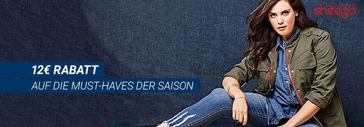12 € Rabatt für Mode Must-haves bei Sheego. Aktuelle Trends für Frauen