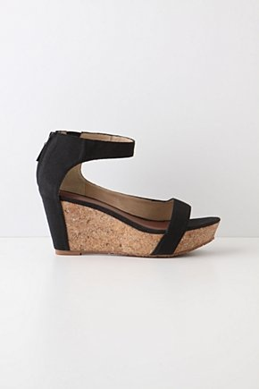 Antropologie - Canvassed Cork Wedges