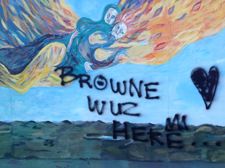 Berlin wall art (pity that Browne was there)