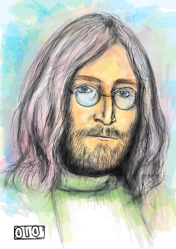 Lennon // Prints Available - http://society6.com/lepix/Lennon-GSc_Print#1=45