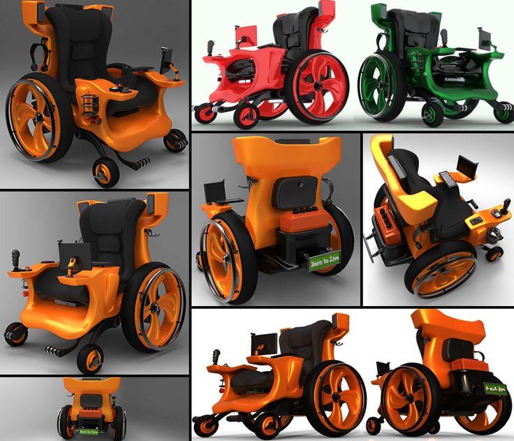 Uber cool geeky, gamer, fun design concept wheelchair by designer Mauricio Maeda