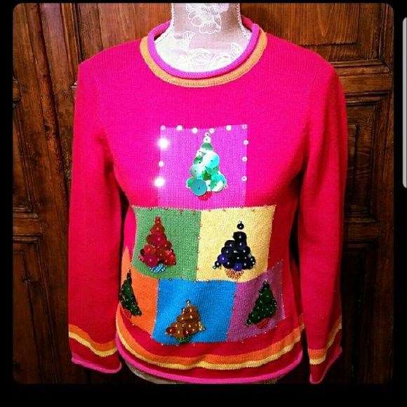 Susan Bristol Christmas Tree Embellished Sweater