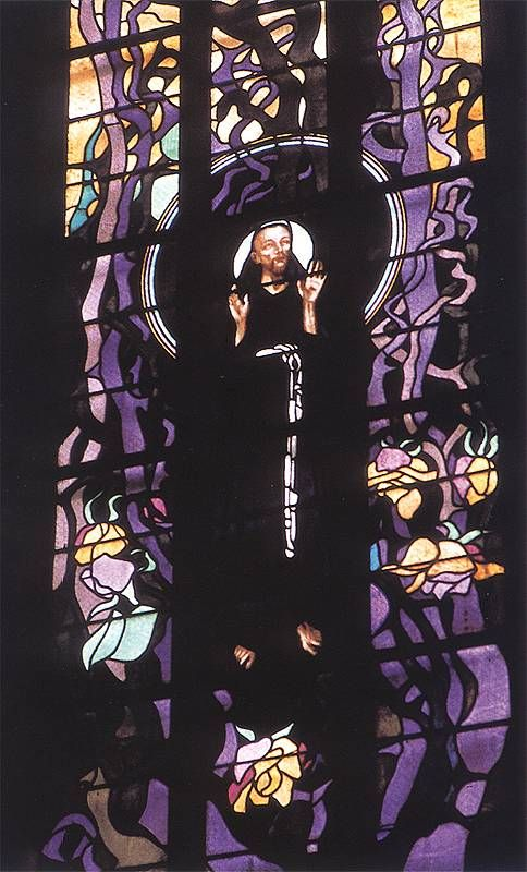 Wyspianski St. Francis, stained glass in St. Francis of Assisi's Church, Krakow, 1904