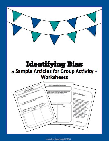 Identifying Bias Article Comparison Group Activity