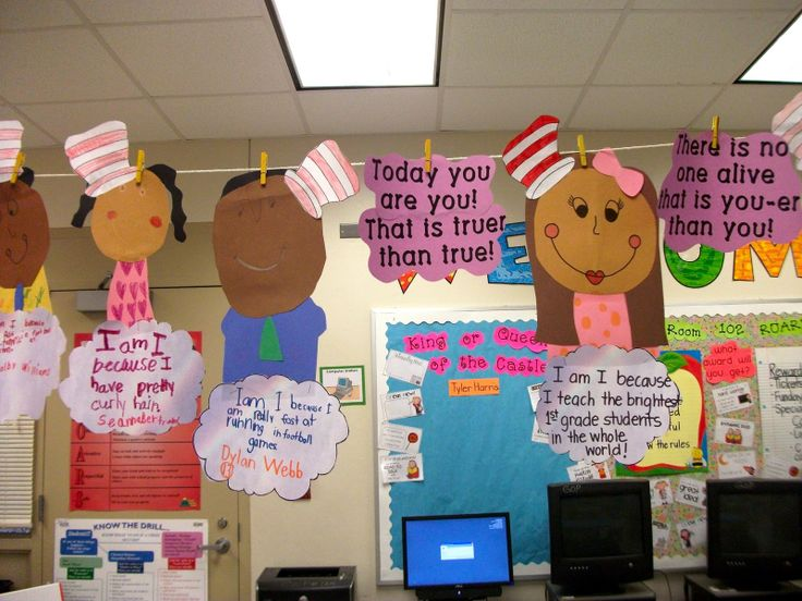 "To celebrate Dr. Seuss' birthday, students can create this cute all about me craft to go along with the book, ""Oh, the Places You'll Go."""