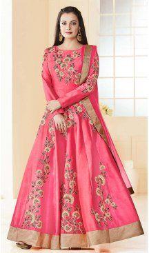 Bollywood Actress Dia Mirza in Pink Color with Silk Anarkali Salwar Kameez | FH581485823 Follow us @heenastyle #Bollywoodactresssalwarsuit #DiaMirzasalwarkameez #Diamirzadressesonline #Heenastyle #DiaMirzasadresses #DiaMirzasasuits #DiaMirzasa #Bollywood #actresssalwarsuit #salwarkameez #anarkalisalwarkameez #anarkalidresses #pakistanianarkali #longanarkali