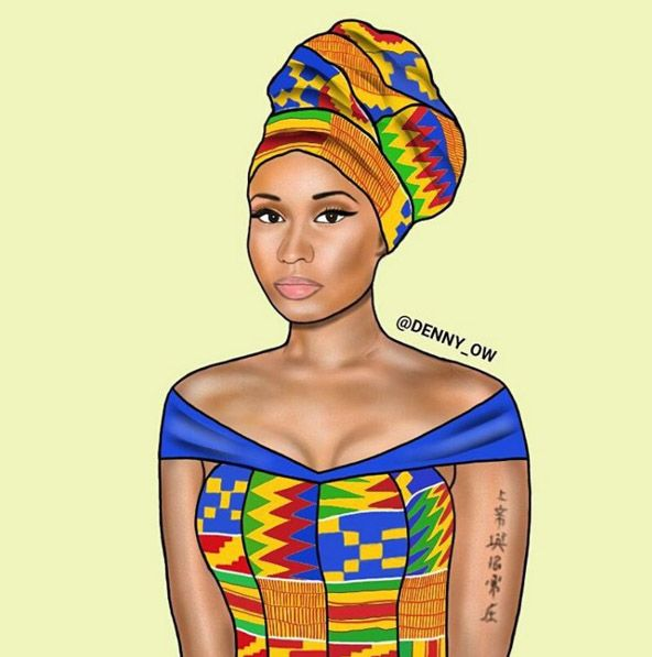 nikki minaj Ghanaian illustrator Denny Owusi Love of fashion in Africa.