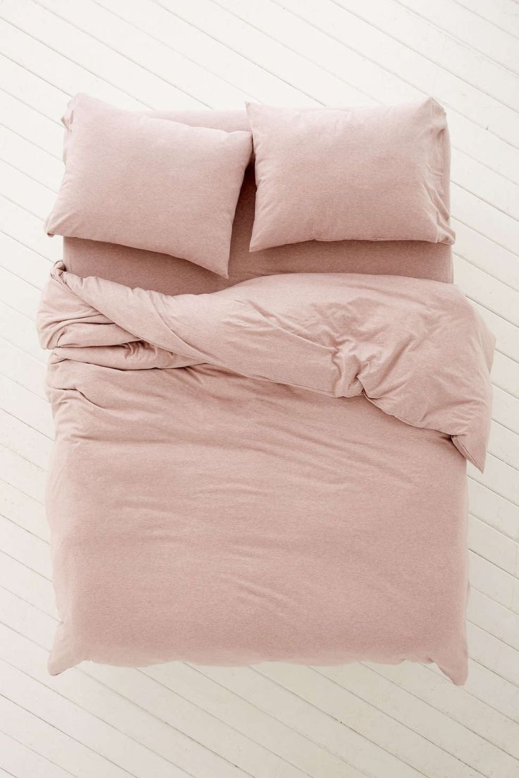 Twin bed top view - T Shirt Jersey Duvet Cover