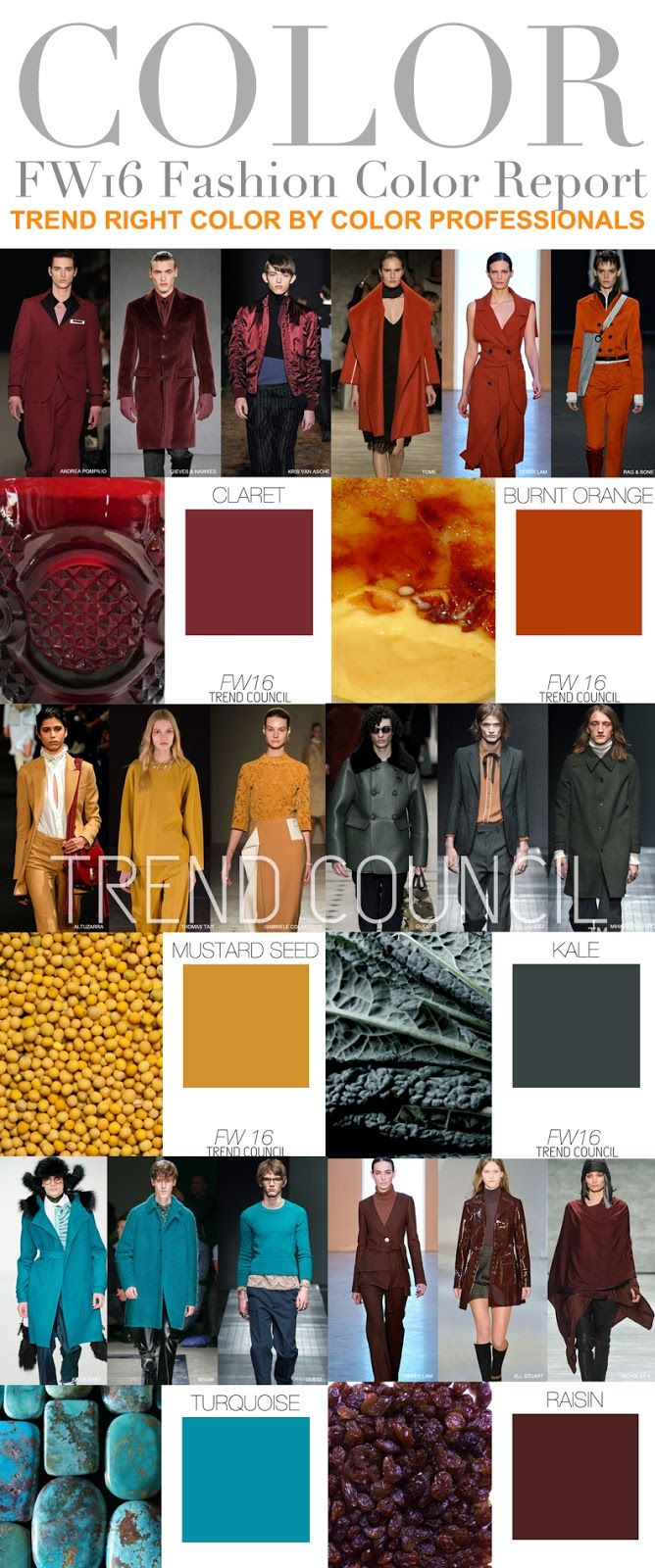 FASHION VIGNETTE: TRENDS // TREND COUNCIL - WOMEN'S AND MEN'S COLOR TRENDS . F/W 2016