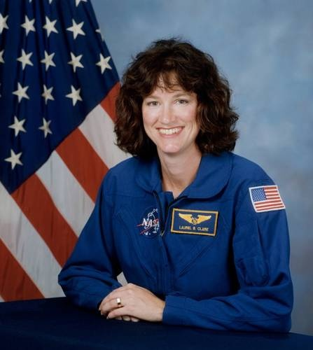 Laurel Clark, selected by NASA in 1996, died near the end of her first space flight, aboard STS-107 Columbia in February, 2003.