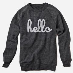 Hello Apparel Eco-Black Sweatshirt (Adult)