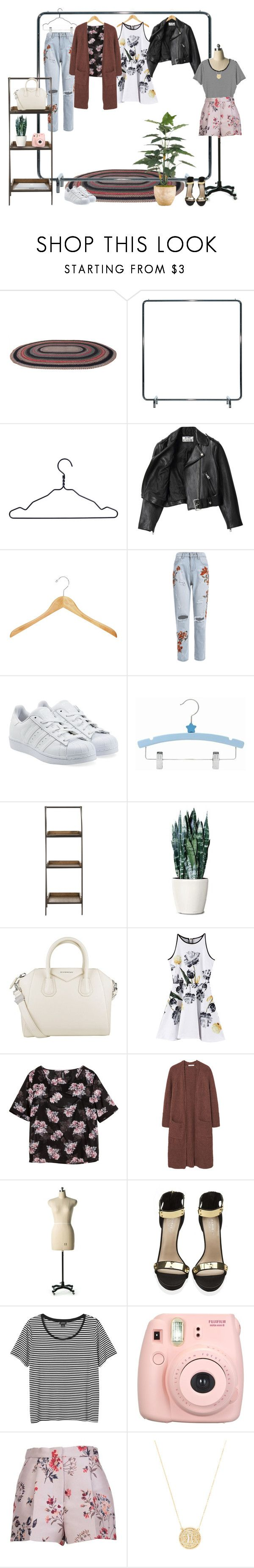 """""""when it all falls down"""" by lucidmoon ❤ liked on Polyvore featuring David Design, HAY, Acne Studios, adidas Originals, Safavieh, Givenchy, Chicnova Fashion, H&M, MANGO and Carvela Kurt Geiger"""