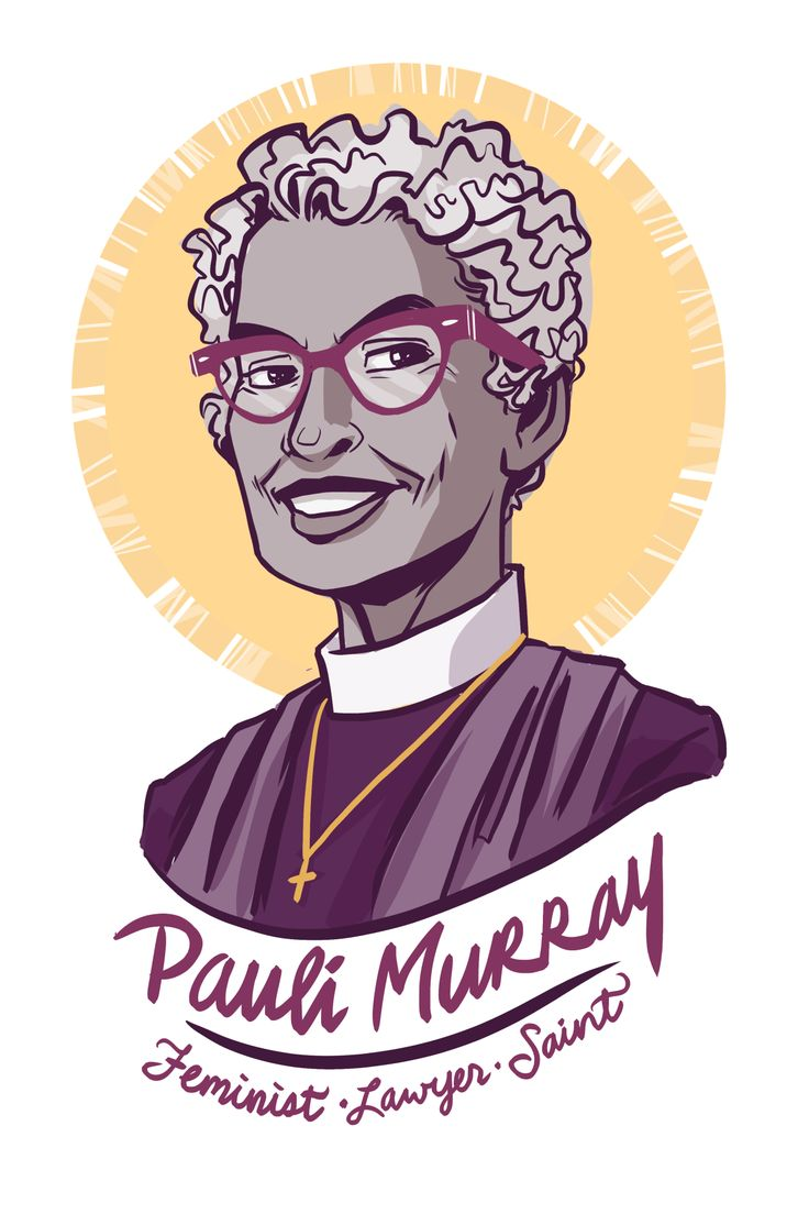 """Pauli Murray was a civil and women's rights activist. She coined the term """"Jane Crow"""" to designate the was race and gender intersected to oppress black women. Some call her the queer foremother of intersectionality. Murray co-founded the National Organization for Women in 1966 and as well was a civil rights attorney and educator. In the late 1970s, she left academia to become an episcopal priest. Later she would be raised to Holy Men, Holy Women of the church (sainted)."""