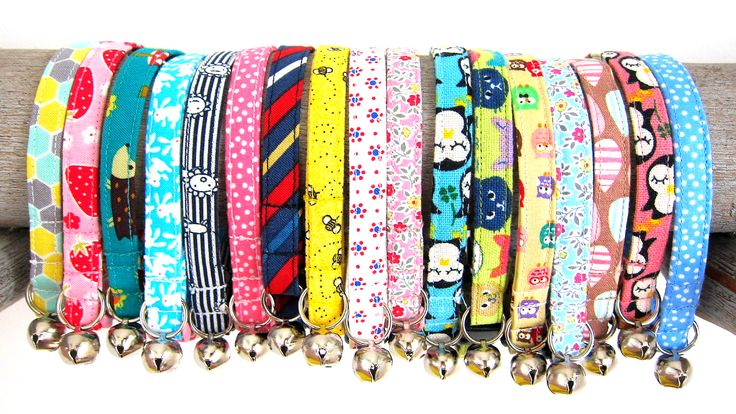 Whether your cat is snoozing around the house or hunting bugs outside, these collars will make your cat more adorable.